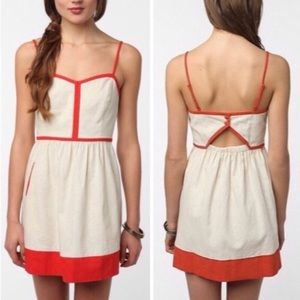 Urban Outfitters COPE Linen Contrast Trim Dress